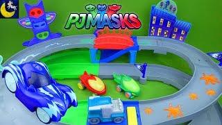 PJ Masks Toys Nighttime Adventures Rev N Rumblers Race Track Playset Toys R Us Toys Catboy Gekko Car