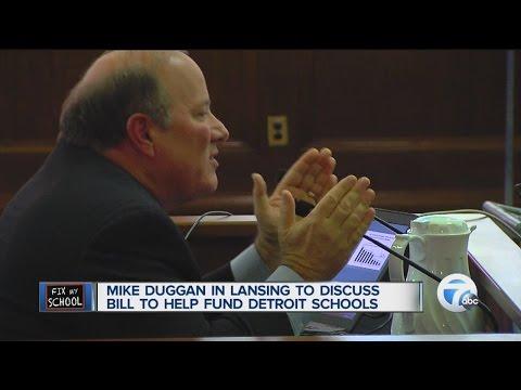 Mayor Mike Duggan in Lansing discussing DPS