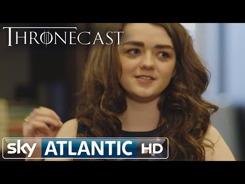 Game Of Thrones Maisie Williams (Arya Stark) Uncut Thronecast Interview - Flame Swords