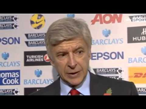 ARSENE WENGER 'JACK SHOULD HAVE STAYED' INTERVIEW MANCHESTER UNITED 2-1 ARSENAL 3-11-12