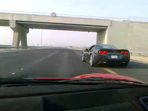 Ferrari 430 Scuderia VS Corvette ZR1 in Kuwait Part_1