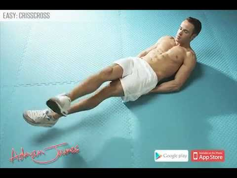 Adrian James 6 Pack Abs Workout - Crisscross - YouTube