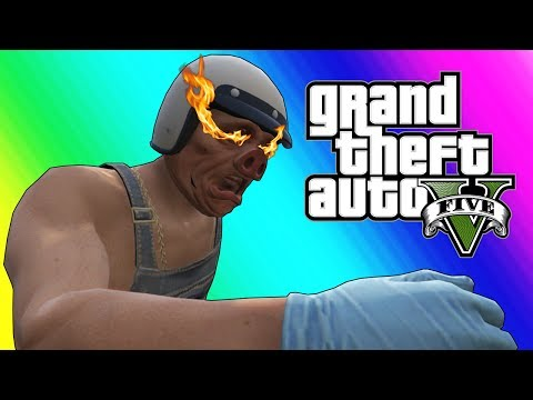 GTA 5 Online Funny Moments - Stopping The Train And WILDCAT SMASH!!