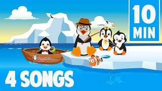 Penguins nursery rhymes for kids & babies song compilation | Leigha Marina