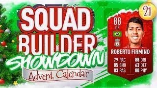 THE SQUAD BUILDER SHOWDOWN ADVENT CALENDAR!!! FUTMAS FIRMINO VS OAKS!!! Day 21
