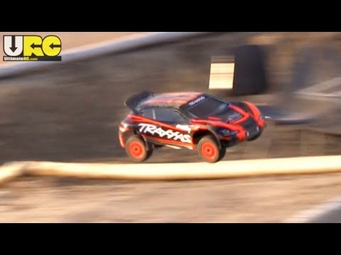 Traxxas Rally 1/10th scale offroad track, stock setup, no music