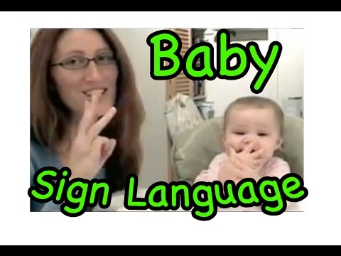 Cute Signing Baby!...baby Sign Language video