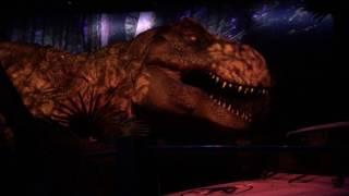 Jurassic World T-Rex paddock Close-Up