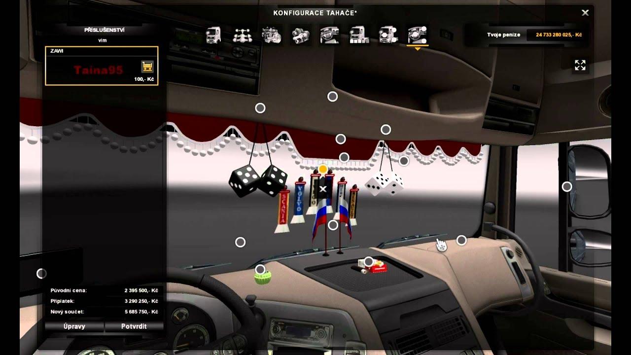 Euro truck simulator 2 daf xf 105 interier tuning youtube
