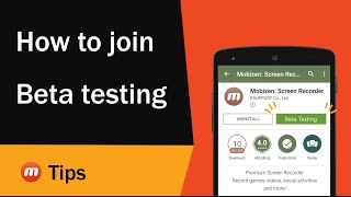 How to join Beta testing | Mobizen