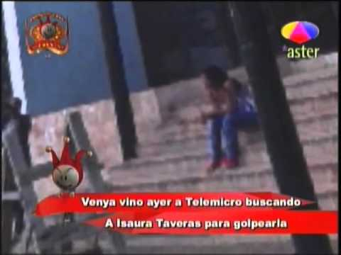 Venya Carolina va a telemicro a agredir a Isaura Taveras