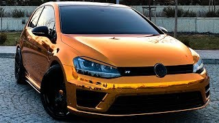 GOLF R Bronze Gold Krom Kaplama - GMG GARAGE