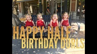 BEST QUADRUPLET HALF BIRTHDAY EVER WITH A SURPRISE AT THE END