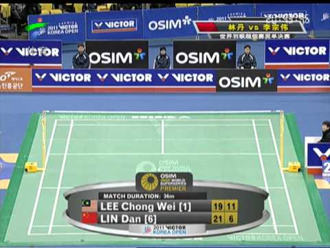 2011 Korea Open MS Final Lin Dan VS Lee Chong Wei