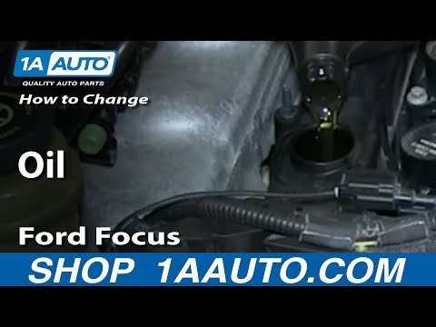 How To Change Oil 2000-07 Ford Focus