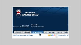Tutorial Inscripción de Asignaturas - Universidad Andrés Bello