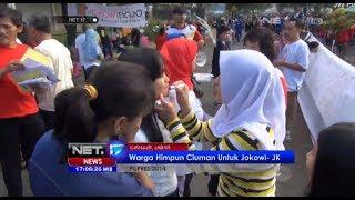 NET17 - Warga Cianjur beri ciuman sebagai dukungan terhadap pasangan Jokowi - JK #Pemilu 2014