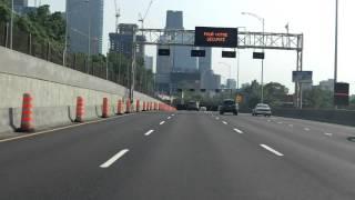 Ville Marie Expressway (Autoroute 720) eastbound [ALTERNATE TAKE 2]
