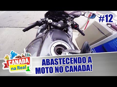 Abastecendo a moto no Canadá! | CANADA NA REAL
