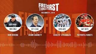 Ron Rivera, Jason Garrett, Eagles' struggles, Patriots/Chiefs | FIRST THINGS FIRST Audio Podcast