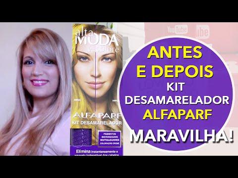 ANTES E DEPOIS KIT DESAMARELADOR DA ALFAPARF
