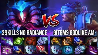 Ultimate Carry Battle!!! WTF 39Kills No Radiance Spectre Vs 9Slots Godlike Anti-Mage 8500 MMR DotA 2