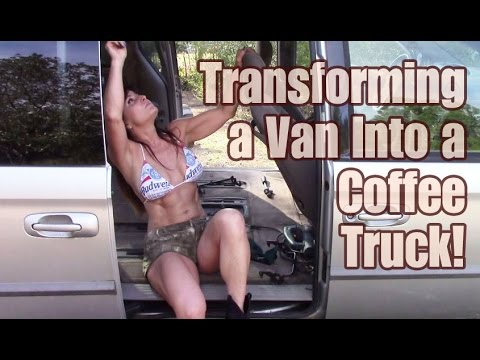 Sexy almost 50 year old Farm Girl cuts back off of mini van for coffee truck!