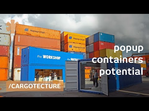Gothenburg stacked cargo containers as instant house/offices