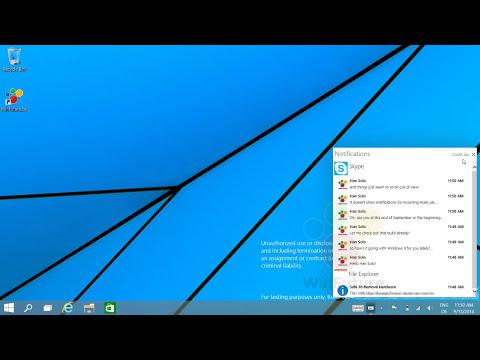 Windows 9: Das neue Notification Center in Aktion