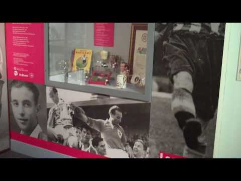 Stanley Matthews display at Potteries Museum & Art Gallery