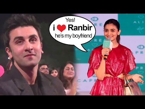 Alia Bhatt Finally Accepts Being In A Relationship With Bf Ranbir Kapoor In Front Of Media