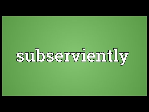 Header of subserviently