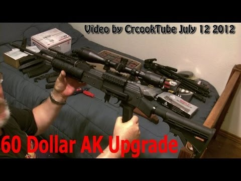 Cheap 60$ Tactical Upgrade AK47 UTG Stock & Generic Quad Rail