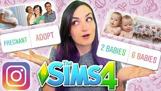 My Instagram Followers Control My Sim's BABIES | Sims 4 Challenge