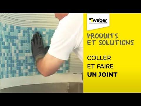 Coller et r aliser ses joint avec un seul produit weber - Colorer joint carrelage blanc ...