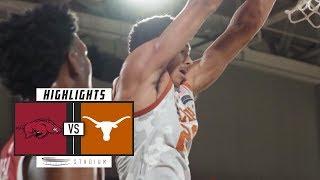 Arkansas vs. Texas Basketball Highlights (2018-19) | Stadium