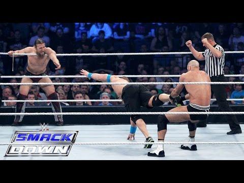 John Cena & Daniel Bryan Vs. Cesaro & Tyson Kidd: Smackdown, April 16, 2015 video