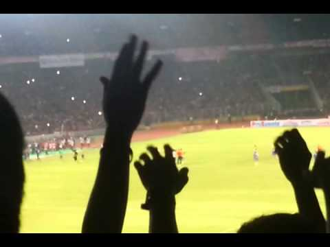 Arsenal v Indonesia post match celebration