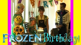 FROZEN Birthday Party with ELSA, ANNA, HANS AND MORE!