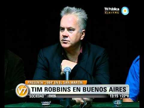 Visión Siete: Tim Robbins en la Argentina