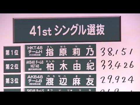 AKB48 第7回選抜総選挙 2015速報発表!41stシングル 指原莉乃1位