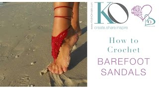Million Dollar Red Crochet Barefoot Sandals