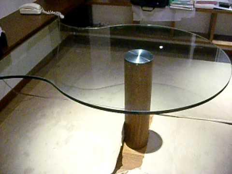 Vidrio y tecnologia escritorio en cristal de 19 mm for Escritorio de vidrio