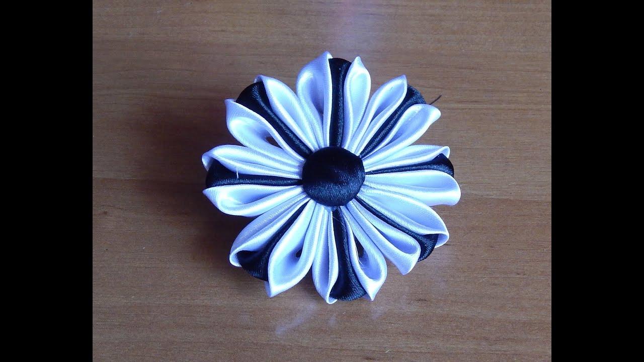 Цветы из атласной ленты своими руками фото канзаши