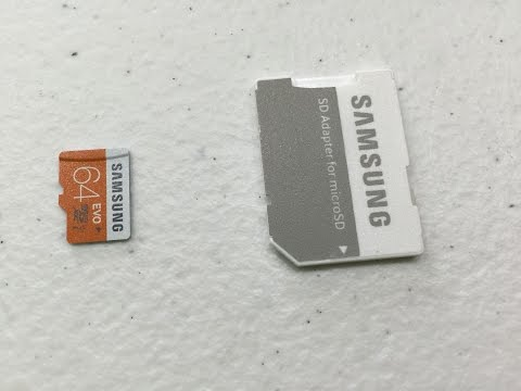 Samsung Electronics 64GB EVO Micro SDXC with Adapter Unboxing