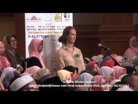 Dr Zakir Naik Malaysia Tour 2012 Dewan Jubli Perak Sultan Ahmad Shah - Qur'an & Modern Science video