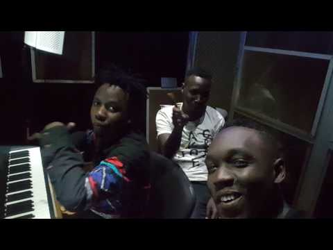 Alvin Kizz in studio with Nessim. Badi Studio session.