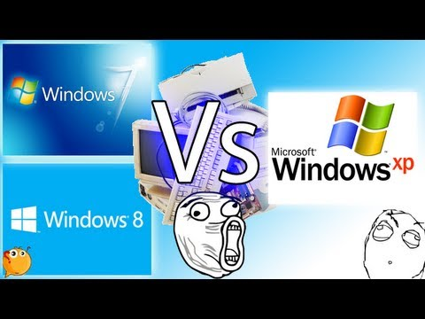 Windows 7 Y Windows 8. Vs Windows XP. En PC Vieja cual es mejor ?