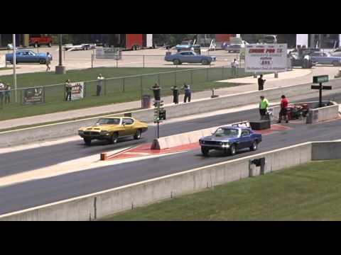 Rare 428 Cobra Jet Mustang Vs Impala SS 409 / 425 HP - 1/4 Mile Drag