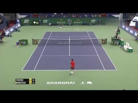 2014 Shanghai 1 4 Roger Federer vs Julien Benneteau
